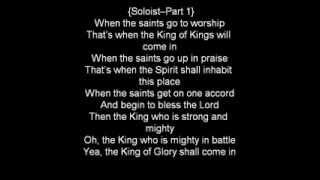 Donald Lawrence-When The Saint's Go To Worship Lyrics
