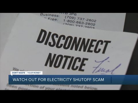 Watch out for electricity shutoff scam