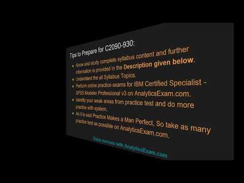 How to Prepare for IBM SPSS Modeler Professional v3 (C2090-930 ...