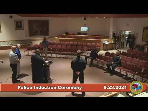 9.23.2021 Police Induction Ceremony