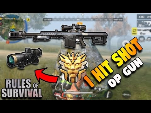 Is BARRETT the best Gun in ROS?? HIGHLIGHTS(Rules of Survival: Battle Royale)