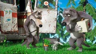 Маша та Ведмідь 🥕🔥 НАВКОЛО СВIТУ ЗА ГОДИНУ🔥🥕 (Шашлики)😊Мультики для детей - Masha and the Bear