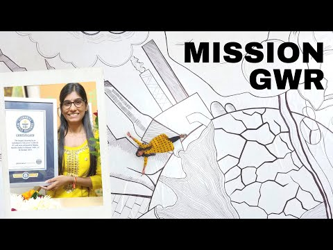 Mission GWR | Largest Drawing by an Individual | The First girl to break this Guinness World Record