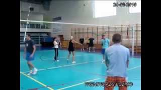 preview picture of video 'TRENING I SPARING  AZS Z GKS rozgrzewka, atak VOLLEYBALL MIX | by ANDRZEJ SZULC'