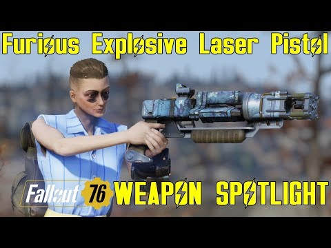 Fallout 76: Weapon Spotlights: Furious Explosive Laser Pistol