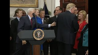 Trump Again Forgets To Sign Executive Order - Third Time