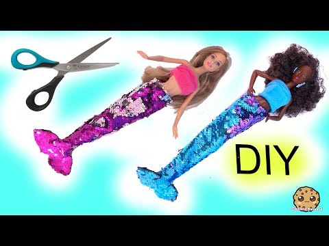 DIY Color Change Glam Barbie Doll Mermaid Tails ! No Sew Easy Craft Mp3