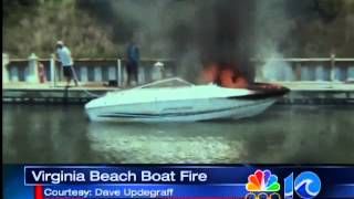 Boat explodes in Virginia Beach
