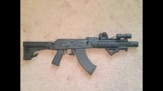 Romanian Draco Ak47 Pistol with shockwave blade br