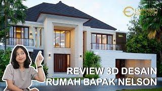 Video Desain Rumah Modern 2 Lantai Bapak Nelson di  Sumatera Utara