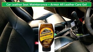 Car leather seat maintenance   Armor All Leather Care gel   Toyota Fortuner