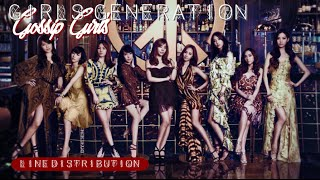 Girls' Generation - Gossip Girls (Line Distribution) (Reupload)