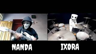Marshmello - Alone || Guitar cover by NANDA || Drum cover by IXORA (wayan)