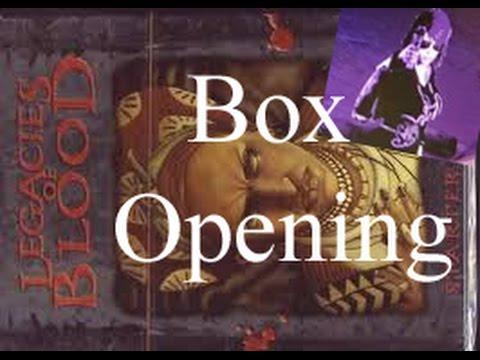 Boxing opening Legacies Of Blood Guruhi VTES Starter Deck