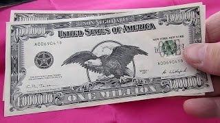 ONE MILLION DOLLAR BILL ~ BA BANKNOTE ~ NOVELTY