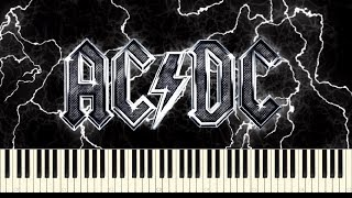 AC/DC - War Machine Synthesia (Piano & Drums Cover)