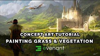 Painting Grass Tutorial - Digital Painting Basics - Vegetation - Concept Art