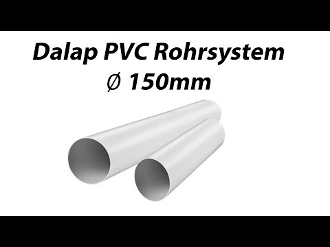 Lüftungsrohr, Abluftkanal PVC-Rundrohr 150mm