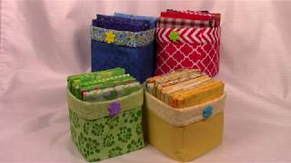 Fat Quarter Storage Cube - Easy Very Detailed Sewing Instructions