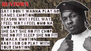 Runtown   Emotion (lyrics)