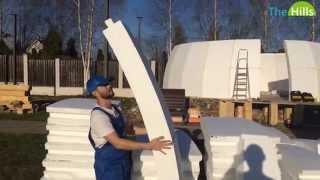 Строительство купольного дома 8м в диаметре Ч.1