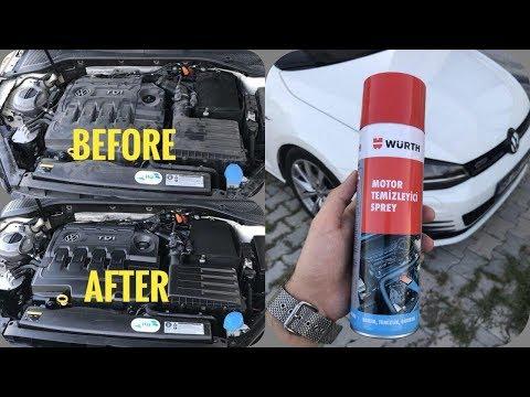 Würth Engine Cleaner | Motorreiniger | Motor Temizleyici | VW Golf 7 | POV | Susuz Motor Temizleme