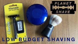 Low Budget Rasur für unter 11€ mit Rasierhobel, Seife und Rasierpinsel von Wilkinson (Deutsch HD)