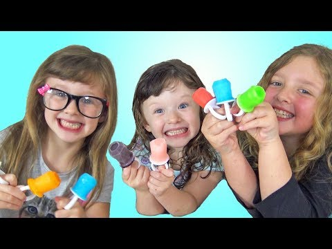 Fun Making FROZEN Treats for Kids with Ava Isla Olivia and Mommy !