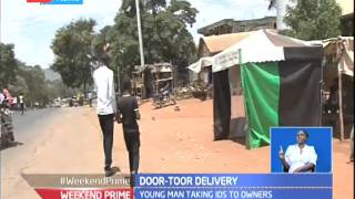 Makueni young man goes door-to-door issuing uncollected Identity Cards