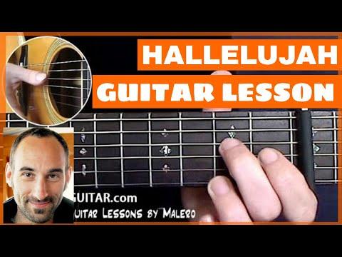 Hallelujah Guitar Lesson - part 1 of 6