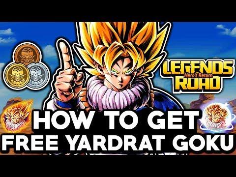 HOW TO GET FREE YARDRAT GOKU! Dragon Ball Legends Free Legends Road Hero's Return Challenge Gameplay