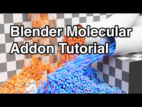 Blender Tutorial - Everything you NEED to know about the Molecular Script Add-On!