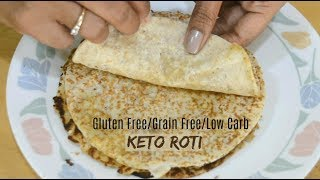 Keto Roti | Vegetarian Keto Roti | Coconut Flour Flat Bread/tortilla |  Keto Recipes | Low Carb