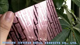 Sapphire Blue mirror stainless steel sheet youtube video