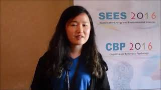 Ms. Jiwon Roh at SEES Conference 2016 by GSTF Singapore