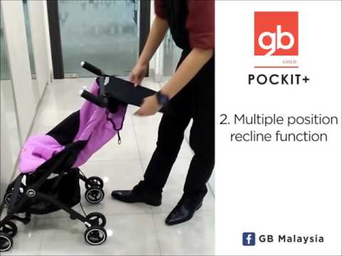 Gb Коляска прогулочная Pockit + Monnument Black