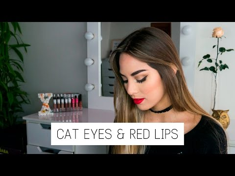 TUTORIAL | CAT EYES & RED LIPS