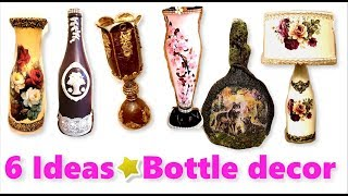 6 Ideas BOTTLE  Decorations/bottle Design