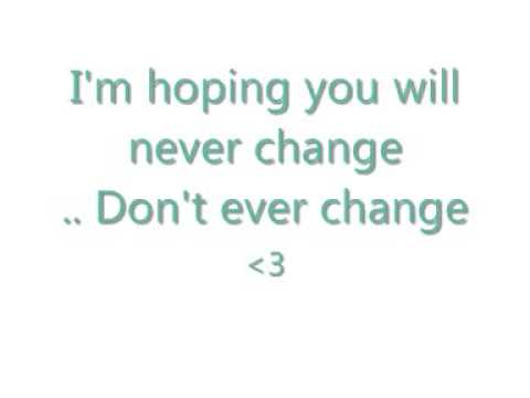 Never Change - Chase Coy [lyrics]