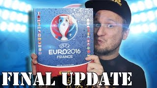 FINAL UPDATE EURO 2016 STICKER ALBUM - KOMPLETT