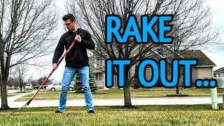 Spring Lawn Tips // Spring Lawn Raking // 2 Minute Lawn Tip