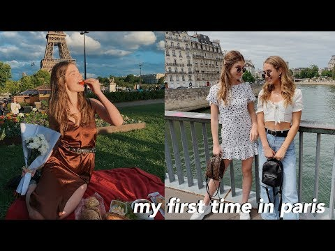 follow me around my first time in PARIS!