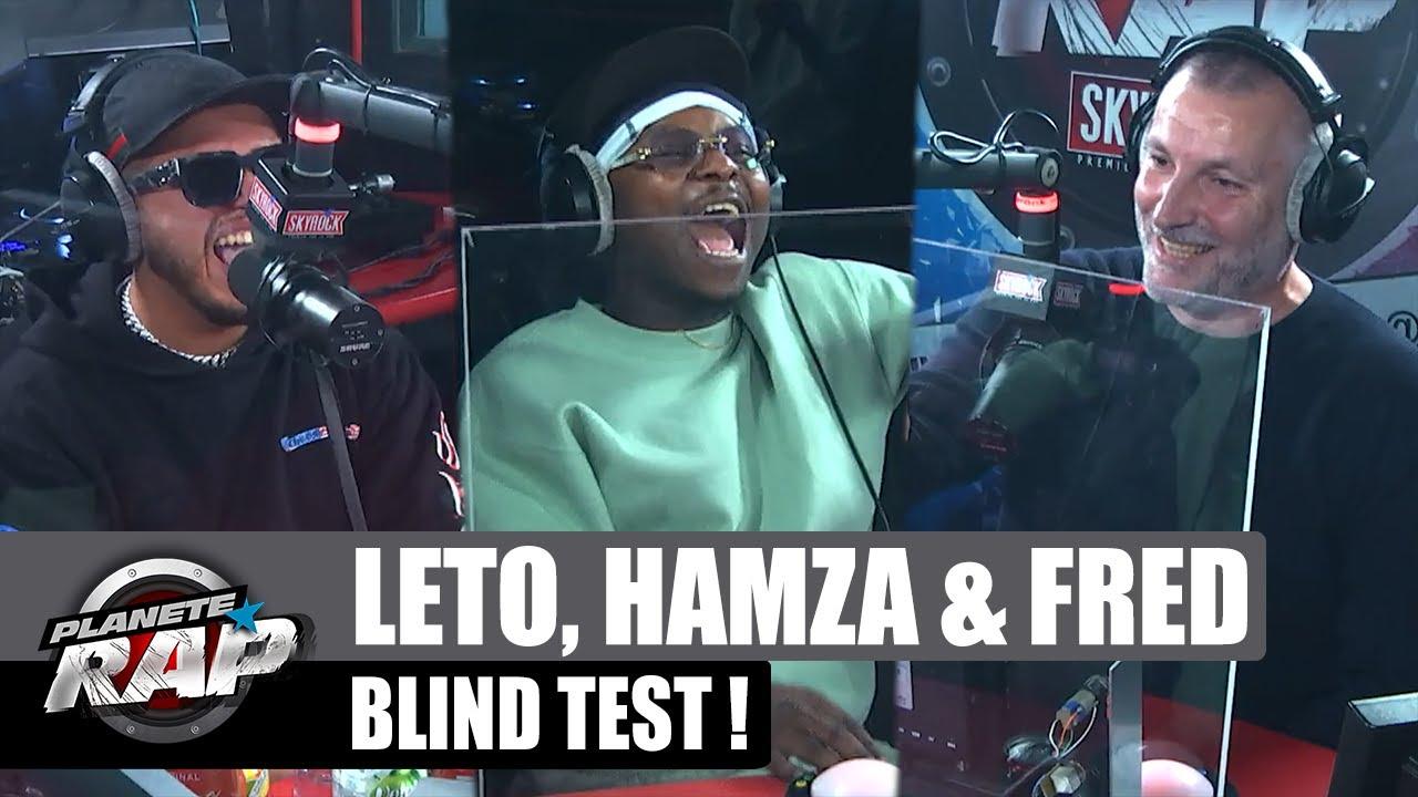 LETO, HAMZA et FRED s'affrontent dans un BLIND TEST ! #PlanèteRap