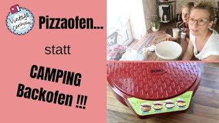 Pizzaofen statt Campingofen // WIR BACKEN PLINSE // Domo Express Partypfanne
