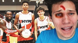 2HYPE FIRST OFFICIAL BASKETBALL GAME! (INJURY WARNING)