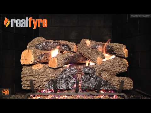 Charred Royal English Oak Vented Gas Log Set