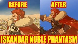 Iskandar  - (Fate/Grand Order) - [FGO] Iskandar Noble Phantasm Before and After