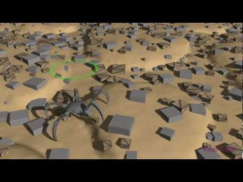 Procedural Locomotion of Multi-Legged Characters in Dynamic Environments