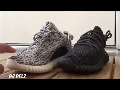 7659e939cdf3 Kanye West x adidas Yeezy Boost 350 Pirate Black Review VS Turtle Dove  Colorway With