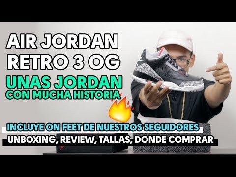 Todo sobre la AIR JORDAN RETRO 3 OG BLACK CEMENT | Mira el video antes de comprarla!